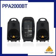 PPA2000BT,블루투스무선기술,무선마이크로폰옵션,KLARK TEKNIK 멀티-FX프로세서&FBQ 피드백 디덱션이 탑재된 울트라 컴팩트 2000와트,8채널 포터플 PA시스템