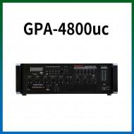 GPA-4800UC/USB/SD Card/라디오/카셋트/마이크1,2,3,4,/마이크1뮤트기능/AUX1,2/라인출력/챠임,싸이렌/펜텀파워/5회로셀렉터/AC,DC24V겸용/480와트